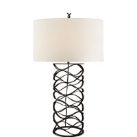 Visual Comfort Studio 1 Light Bracelet Table Lamp in Aged Iron S3045AI-L