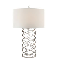 Visual Comfort Studio 1 Light Bracelet Table Lamp in Burnished Silver Leaf S3045BSL-L
