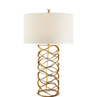 Barry Goralnick Bracelet 30 inch 150 watt Gilded Iron Table Lamp Portable Light