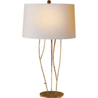 Visual Comfort Studio Aspen 1 Light Decorative Table Lamp in Gilded Iron with Wax S3050GI-NP
