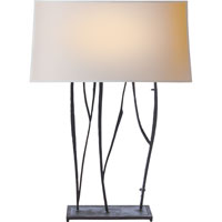 Visual Comfort Studio Aspen 2 Light Decorative Table Lamp in Hand Painted Blackened Rust S3051BR-NP