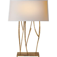 Visual Comfort Studio Aspen 2 Light Decorative Table Lamp in Gilded Iron with Wax S3051GI-NP