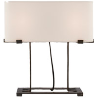 Visual Comfort Studio Kavalo 2 Light Table Lamp in Aged Iron with Natural Paper Shade S3071AI-NP