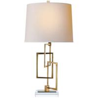 Visual Comfort S3090HAB-NP Studio Cooper 25 inch 75 watt Hand-Rubbed Antique Brass Table Lamp Portable Light