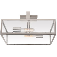 Ian K. Fowler Halle 2 Light 17 inch Polished Nickel Flush Mount Ceiling Light, Large