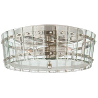 Visual Comfort S4651PN-AM Carrier and Company Cadence 3 Light 16 inch Polished Nickel Single-Tier Flush Mount Ceiling Light, Medium