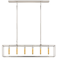 Visual Comfort Studio Belden 6 Light Linear Pendant in Polished Nickel S5015PN