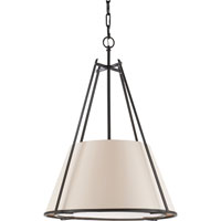 Visual Comfort Studio Aspen 1 Light Hanging Shade in Hand Painted Blackened Rust S5033BR-NP