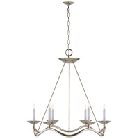 Visual Comfort Studio Choros 6 Light Chandelier in Polished Nickel S5040PN