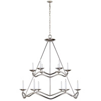 Visual Comfort Studio Choros 12 Light Chandelier in Polished Nickel S5041PN