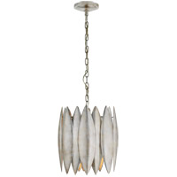 Barry Goralnick Hatton 4 Light 15 inch Burnished Silver Leaf Pendant Ceiling Light, Barry Goralnick, Small
