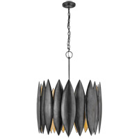 Visual Comfort Barry Goralnick Hatton 4 Light 31-inch Pendant in Aged Iron, Large S5048AI