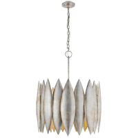 Barry Goralnick Hatton 4 Light 31 inch Burnished Silver Leaf Pendant Ceiling Light, Barry Goralnick, Large