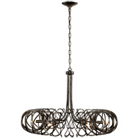 Barry Goralnick Bracelet 6 Light 35 inch Aged Iron Pendant Ceiling Light, Barry Goralnick, Large, Chandelier