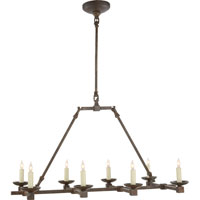 Visual Comfort Studio Kassel 8 Light Linear Pendant in Natural Iron with Wax S5108NI