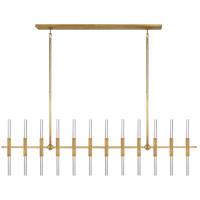 Ian K. Fowler Palomar LED 60 inch Hand-Rubbed Antique Brass Transforming Linear Chandelier Ceiling Light, Large