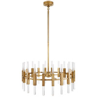Ian K. Fowler Palomar 40 Light 34 inch Hand-Rubbed Antique Brass Rotating Chandelier Ceiling Light, Small