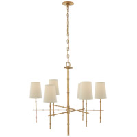 Visual Comfort S5161HAB-PL Studio Grenol 6 Light 33 inch Hand-Rubbed Antique Brass Chandelier Ceiling Light