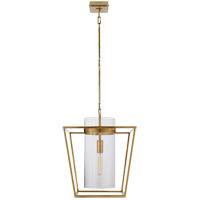 Visual Comfort S5167HAB-CG Ian K. Fowler Presidio 1 Light 18 inch Hand-Rubbed Antique Brass Foyer Lantern Ceiling Light