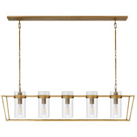 Ian K. Fowler Presidio 5 Light 54 inch Hand-Rubbed Antique Brass Linear Lantern Ceiling Light