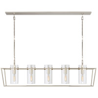 Visual Comfort S5177PN-CG Ian K. Fowler Presidio 5 Light 54 inch Polished Nickel Linear Lantern Ceiling Light