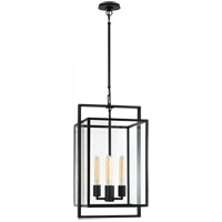 Visual Comfort S5192AI-CG Ian K. Fowler Halle 4 Light 14 inch Aged Iron Hanging Lantern Ceiling Light, Small