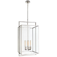 Visual Comfort S5193PN-CG Ian K. Fowler Halle 4 Light 18 inch Polished Nickel Hanging Lantern Ceiling Light, Medium
