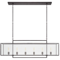 Ian K. Fowler Halle 6 Light 56 inch Aged Iron Linear Pendant Ceiling Light, Large