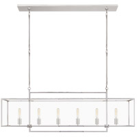 Ian K. Fowler Halle 6 Light 56 inch Polished Nickel Linear Pendant Ceiling Light, Large