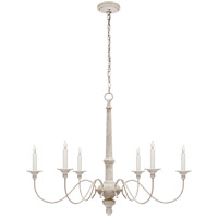 Visual Comfort S5211BW Studio Country 6 Light 37 inch Belgian White Chandelier Ceiling Light