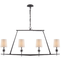 Studio Etoile 4 Light 48 inch Blackened Rust Linear Pendant Ceiling Light