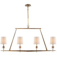 Ian K. Fowler Etoile 4 Light 48 inch Gilded Iron Linear Pendant Ceiling Light