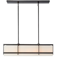 Visual Comfort S5327AI-L Ian K. Fowler Milo 7 Light 43 inch Aged Iron Linear Pendant Ceiling Light, Large