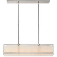 Visual Comfort S5327PN-L Ian K. Fowler Milo 7 Light 43 inch Polished Nickel Linear Pendant Ceiling Light, Large photo thumbnail