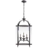 Studio Gillespie 5 Light 19 inch Aged Iron Foyer Lantern Ceiling Light