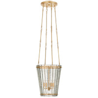 Visual Comfort S5652HAB-AM Carrier and Company Cadence 4 Light 15 inch Hand-Rubbed Antique Brass Chandelier Ceiling Light Small Tall