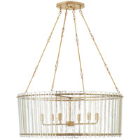 Visual Comfort S5670HAB-AM Carrier and Company Cadence 6 Light 37 inch Hand-Rubbed Antique Brass Chandelier Ceiling Light Large