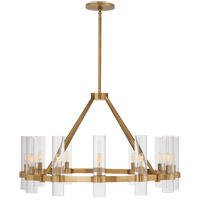 Visual Comfort S5680HAB-CG Ian K. Fowler Presidio 12 Light 37 inch Hand-Rubbed Antique Brass Chandelier Ceiling Light, Medium