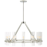 Visual Comfort S5680PN-CG Ian K. Fowler Presidio 12 Light 37 inch Polished Nickel Chandelier Ceiling Light, Medium