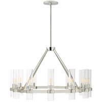Visual Comfort S5680PN-CG Ian K. Fowler Presidio 12 Light 37 inch Polished Nickel Chandelier Ceiling Light Medium