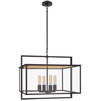 Visual Comfort S5797AI-CG Ian K. Fowler Halle 4 Light 24 inch Aged Iron Outdoor Hanging Lantern
