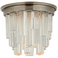 Visual Comfort S7010AN-CA Studio VC Breck LED 5 inch Antique Nickel Flush Mount Ceiling Light, Petite