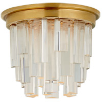 Visual Comfort S7010HAB-CA Studio Vc Breck LED 5 inch Hand-Rubbed Antique Brass Flush Mount Ceiling Light Petite