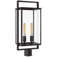 Visual Comfort S7191AI-CG Ian K. Fowler Halle 2 Light 27 inch Aged Iron Post Lantern, Medium