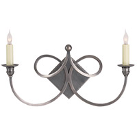 Visual Comfort Studio Twist 2 Light Decorative Wall Light in Antique Silver SC2105AS