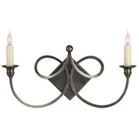 Visual Comfort Studio Twist 2 Light Decorative Wall Light in Bronze with Wax SC2105BZ