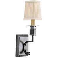 Visual Comfort Studio Tyler 1 Light Decorative Wall Light in Antique Silver SC2106AS