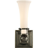 Visual Comfort Studio Luxe 1 Light Bath Wall Light in Bronze with Wax SC2109BZ-WG