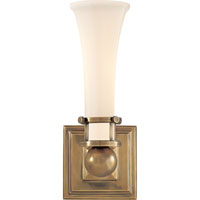 Visual Comfort Studio Luxe 1 Light Bath Wall Light in Hand-Rubbed Antique Brass SC2109HAB-WG