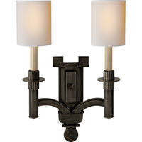 Visual Comfort Studio Troy 2 Light Decorative Wall Light in Bronze with Wax SC2165BZ-NP